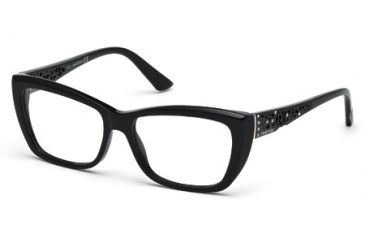 Swarovski SK5084 Eyeglass Frames - Shiny Black Frame Color