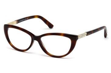 Swarovski SK5085 Eyeglass Frames - Dark Havana Frame Color