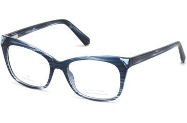 ec1311ec5c47 Swarovski SK5292 Eyeglass Frames - Blue Frame Color