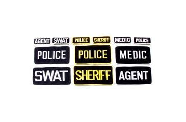 BlackHawk SWAT Patch w/ (2x4.5) (10900024) Black/White 90SP02BK