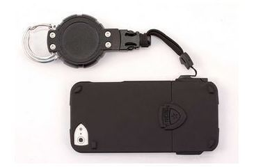 T-Reign ProLink iPhone 4/4S Smartphone Case and Retractable Gear Tether w/ Carabiner, Black, Medium 0TBP-0062