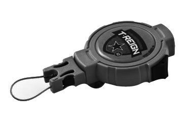T-Reign Retractable Gear Tether Outdoor Series, Xtra Duty 14oz w/ 36in Kevlar Cord, Clip, Black, Large 0TRG-442