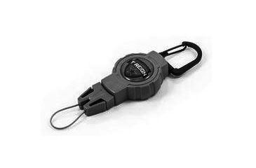 T-Reign Small Retractable Gear Tether Outdoor Series, 4oz w/ 24in Kevlar Cord, Clip, Black, Small 0TRG-412
