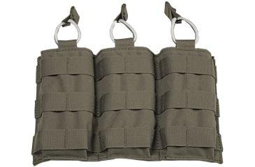 Tactical Assault Gear MOLLE Triple Shingle Pouch w/Bungee, Ranger Green 812166