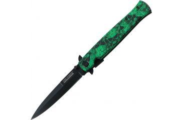 Tac Force 4.75in. Closed Folder Knives, Plain edge Knife, Green Skull Handle TF804ZG