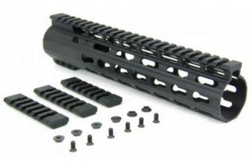 3-Tacfire Slim Keymod Free Float Clamp-On Style Hand Guard w/Detachable Rail