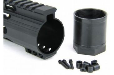 36-Tacfire Slim Keymod Free Float Clamp-On Style Hand Guard w/Detachable Rail