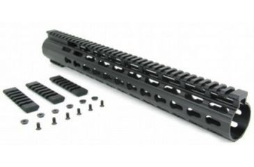 2-Tacfire Slim Keymod Free Float Clamp-On Style Hand Guard w/Detachable Rail