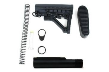 2-Tacfire AR15 Buffer Tube Kit w/6 Position Stock & Buttpad