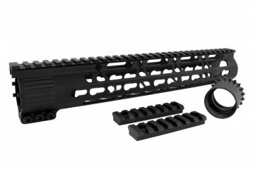 32-Tacfire AR15 Ultra Slim KeyMod Free Float Hand Guard w/Detachable Rails