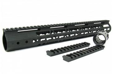 23-Tacfire AR15 Ultra Slim KeyMod Free Float Hand Guard w/Detachable Rails