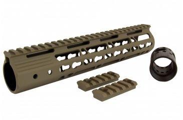26-Tacfire AR15 Ultra Slim KeyMod Free Float Hand Guard w/Detachable Rails