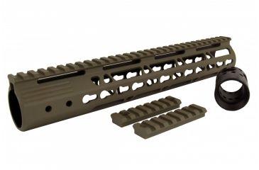 25-Tacfire AR15 Ultra Slim KeyMod Free Float Hand Guard w/Detachable Rails