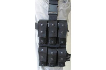 Tacprogear Drop Leg Munitions Pouch with Dual Snap and Velcro System, Black H-DLMP1