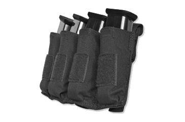 Tacprogear Quad Pistol Mag Pouch w/ Griptite, Black, Black P-QPGT1-BK