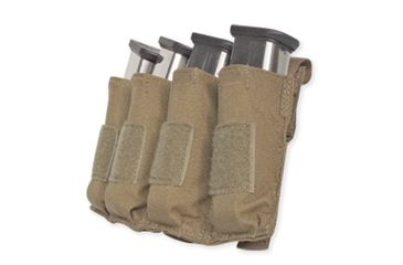 Tacprogear Quad Pistol Mag Pouch w/ Griptite, Coyote Tan, Coyote P-QPGT1-CT