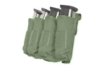 Tacprogear Quad Pistol Mag Pouch w/ Griptite, Olive Drab Green, Olive Drab Green P-QPGT1-OD