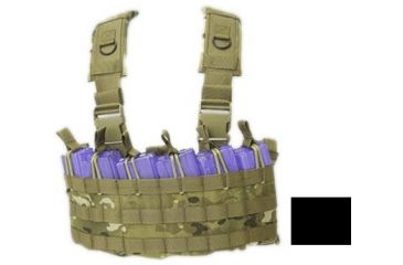 Tactical Assault Gear Gladiator Chest Rig w/out Bib, Black 812356