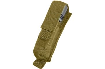Tactical Assault Gear MOLLE 2 Battery Flashlight Pouch, Coyote Tan 812112