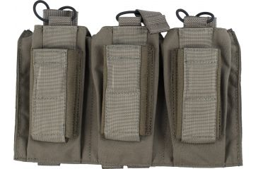 Tactical Assault Gear MOLLE Shingle/Pistol Enhanced 3 Magazine Pouch, Ranger Green 812215