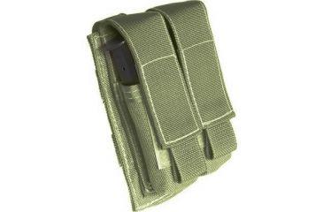 Tactical Assault Gear MOLLE Pistol Mag 2 Pouch, Ranger Green 812006