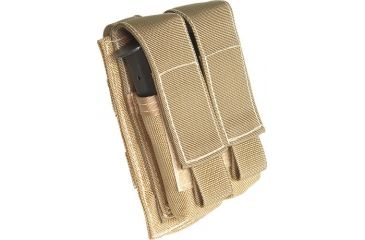 Tactical Assault Gear MOLLE Pistol Mag 2 Pouch, Coyote Tan 813401