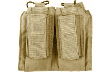 Tactical Assault Gear MOLLE Shingle/Pistol Enhanced 2 Mag Pouch Coyote Tan 812209