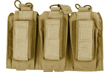 Tactical Assault Gear MOLLE Shingle/Pistol Enhanced 3 Magazine Pouch, Coyote Tan 812214