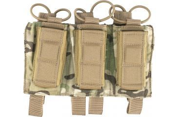 Tactical Assault Gear MOLLE Shingle/Pistol Enhanced 3 Mag Pouch Multicam 812217