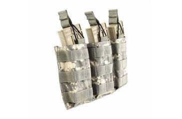 Tactical Assault Gear MOLLE Triple Shingle Pouch w/Bungee, Army ACU 812167