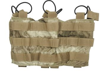 Tactical Assault Gear MOLLE Triple Shingle Pouch w/Bungee, A-TACS 813415