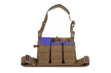 Tactical Assault Gear GO Time Triple 7.62 Mag Chest Rig Coyote Tan