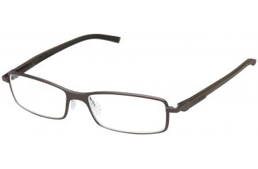 Tag Heuer Automatic Eyeglasses, Chocolate Frame/Dark Brown Black Temples, Clear Lens 0805-003