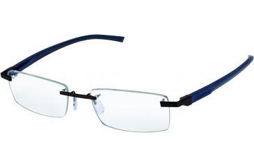 Tag Heuer Automatic Eyeglasses, Dark Frame/Blue Grey Dark Grey Temples, Clear Lens 0842-008
