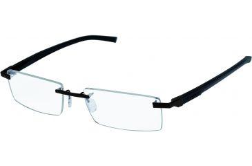 Tag Heuer Automatic Eyeglasses, Matte Black Frame/Black Black Temples, Clear Lens 0841-001