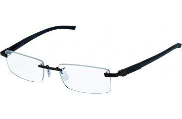 Tag Heuer Automatic Eyeglasses, Matte Black Frame/Black Black Temples, Clear Lens 0842-001