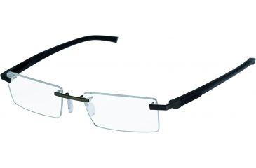 Tag Heuer Automatic Eyeglasses, Matte Black Frame/Black Black Temples, Clear Lens 0843-001