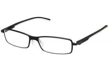 Tag Heuer Automatic Eyeglasses, Matte Black Frame/Black White Temples, Clear Lens 0805-011