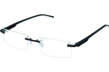 Tag Heuer Automatic Eyeglasses, Matte Black Frame/Black White Temples, Clear Lens 0841-011