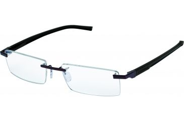 Tag Heuer Automatic Eyeglasses, Matte Chocolate Frame/Dark Brown Black Temples, Clear Lens 0841-003