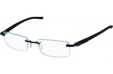 Tag Heuer Automatic Eyeglasses, Matte Chocolate Frame/Dark Brown Black Temples, Clear Lens 0842-003