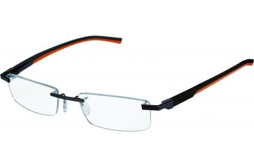 Tag Heuer Automatic Eyeglasses, Matte Chocolate Frame/Dark Brown Orange Temples, Clear Lens 0844-010