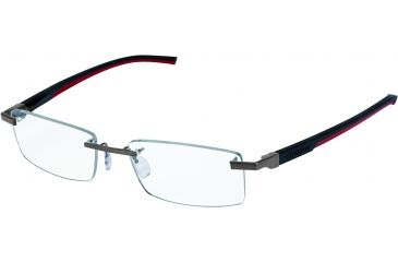 Tag Heuer Automatic Eyeglasses, Pure Frame/Black Red Temples, Clear Lens 0842-002