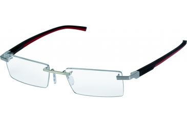 Tag Heuer Automatic Eyeglasses, Pure Frame/Black Red Temples, Clear Lens 0843-002