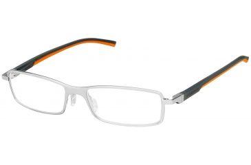 Tag Heuer Automatic Eyeglasses, Pure Frame/Dark Grey Orange Temples, Clear Lens 0805-009