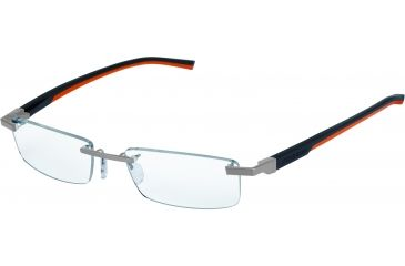 Tag Heuer Automatic Eyeglasses, Pure Frame/Dark Grey Orange Temples, Clear Lens 0844-009