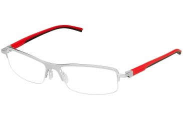 Tag Heuer Automatic Eyeglasses, Pure Frame/Red Black Temples, Clear Lens 0825-005