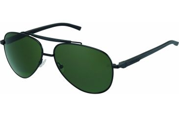 Tag Heuer Automatic Sunglasses, Black Frame/Black Black Temples, Green Outdoor Lens 0881-301