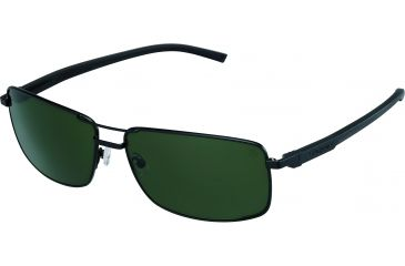 Tag Heuer Automatic Sunglasses, Black Frame/Black Black Temples, Green Outdoor Lens 0883-301