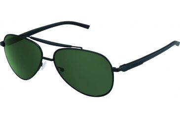 Tag Heuer Automatic Sunglasses, Black Frame/Black Black Temples, Green Precision Lens, Polarized 0881-311